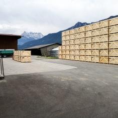 Caises en bois pour le stockage des légumes