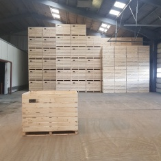 Caisses en bois pour le stockage