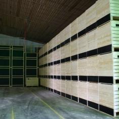Constructions en bois pour systèmes de ventilation spéciaux avec caisses en bois pour ventilation forcée
