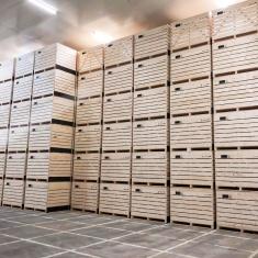Wooden potato crates