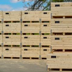 Holzkisten zur Aufbewahrung von Früchten