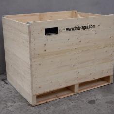 Palox bois pour le séchage d'oignons par ventilation forcée