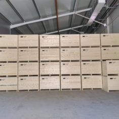 Professional wooden boxes for forced ventilation storage