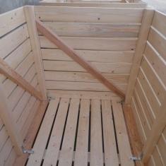 Wooden potato box
