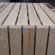 boîtes à oignons en bois