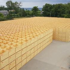 boîtes de pommes de terre