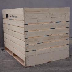 caisse palette avec contreplaqué