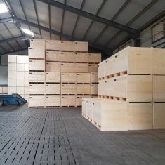 caisses en bois à ventilation forcée pour mur de pression d'air