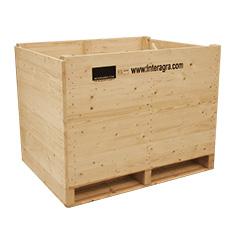 caisses en bois pour le stockage de légumes avec ventilation forcée