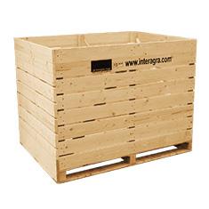 caisses en bois pour le stockage des fruits et légumes