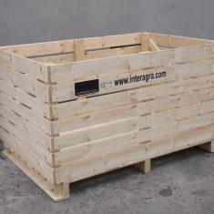 caisses en bois pour producteur de récolte de fruits et légumes
