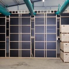 caissons de ventilation par aspiration - mur de pression