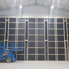 construction d'un mur en bois