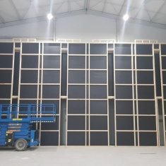 construction of wooden wall