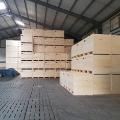 forced ventilation wooden boxes for air pressure wall