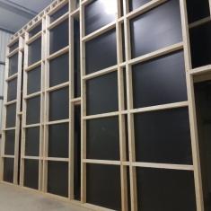 mur de ventilation forcée - pression d'air pour la ventilation des caisses en bois
