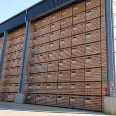 production de caisses en bois pour le stockage de légumes