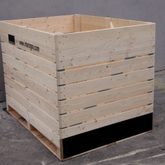wooden bins with plywood
