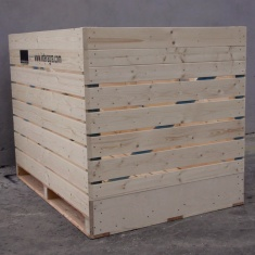 wooden box with plywood