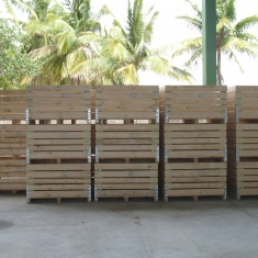 wooden boxes for fruits