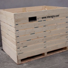 wooden crates with plywood